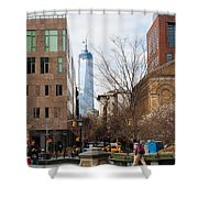 Freedom Tower From Washington Square Shower Curtain