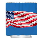 Freedom American Flag Art Prints Shower Curtain