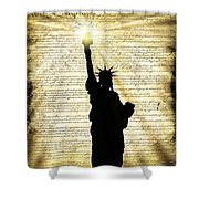 Freedoms Light Shower Curtain
