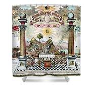 Freemason Emblematic Chart Shower Curtain