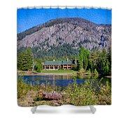 Freestone Inn Lakeside View Shower Curtain