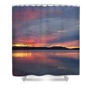 Freezeout Lake Sunset Shower Curtain