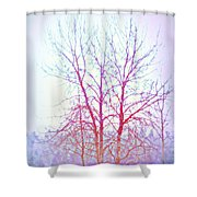 Freezing Cold Feet In Peace Shower Curtain