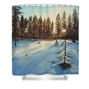 Freezing Forest Shower Curtain