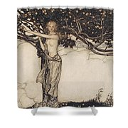 Freia The Fair One Illustration From The Rhinegold And The Valkyrie Shower Curtain