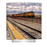 Freight Expectations Palm Springs Shower Curtain