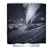 Freight Train About To Leave The Atchison Circa 1943 Shower Curtain