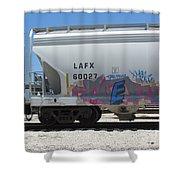 Freight Train Graffiti 7 Shower Curtain