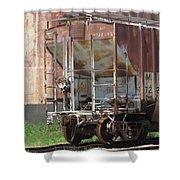 Freight Train Wheels 12 Shower Curtain