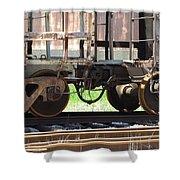Freight Train Wheels 13 Shower Curtain