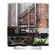 Freight Train Wheels 16 Shower Curtain