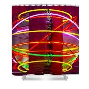 Fremont Street Neon Sphere Shower Curtain