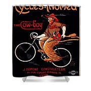 French Bicycles Shower Curtain