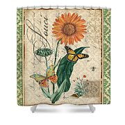 French Botanical Damask-a Shower Curtain