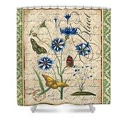 French Botanical Damask-b Shower Curtain