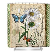 French Botanical Damask-d Shower Curtain