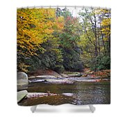 French Broad River In Fall Shower Curtain
