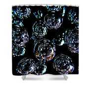 French Bubbles Shower Curtain