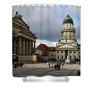 French Cathedral And Concert Hall - Berlin  Shower Curtain