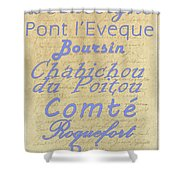 French Cheeses-1 Shower Curtain