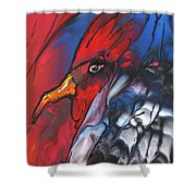 French Cokerel Shower Curtain