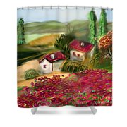 French Country Squared Shower Curtain