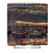 French Creek Sunrise Shower Curtain