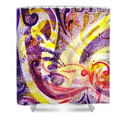 French Curve Abstract Movement II Shower Curtain