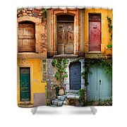 French Doors Shower Curtain