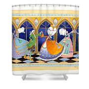 French Dream Dance Shower Curtain