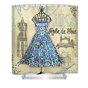 French Dress Shop-b Shower Curtain