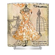 French Dress Shop-c Shower Curtain