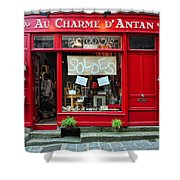 French Gift Shop Shower Curtain