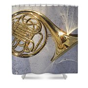 French Horn Iv Shower Curtain