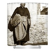 French Lady With A Very Large Bread France 1900 Shower Curtain