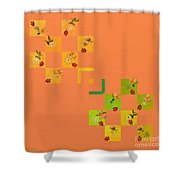 French Lillies Abstract Shower Curtain