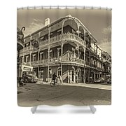 French Quarter Afternoon Sepia Shower Curtain