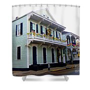 French Quarter Architecture Shower Curtain