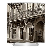 French Quarter Art And Artistry Sepia Shower Curtain