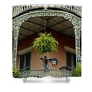French Quarter Balcony Shower Curtain