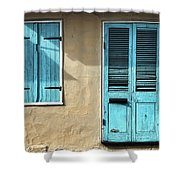 French Quarter Blues Shower Curtain