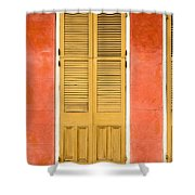 French Quarter Door - 31 Shower Curtain
