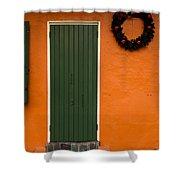 French Quarter Door - 33 Shower Curtain
