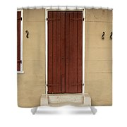 French Quarter Door - 34 Shower Curtain