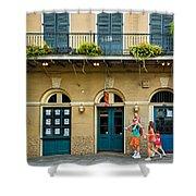 French Quarter Family Fun Shower Curtain