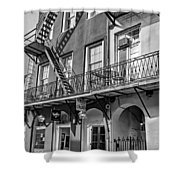 French Quarter Flair Bw Shower Curtain