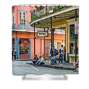 French Quarter - Hangin' Out Shower Curtain