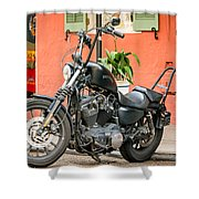 French Quarter Harley Shower Curtain