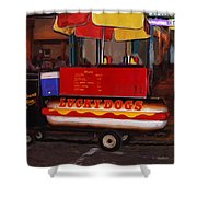 French Quarter Late At Night Shower Curtain