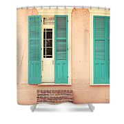 French Quarter Pastel Colours  Shower Curtain